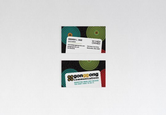 Gong Gong Communications business cards