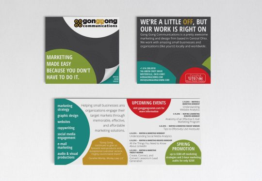 Gong Gong Communications marketing pieces